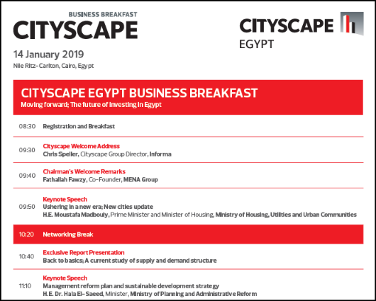 Cityscape Egypt Business Breakfast 2019